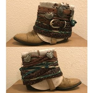 Luxury Jones Free People boho boots. Size 7.5.